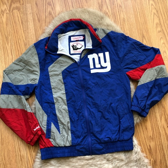 b7f633fc448 Mitchell   Ness NY Giants Throwback Jacket Size M.  M 5be4a348409c155c6945093e